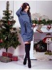 Стильное платье с хомутом и удобными карманами. Арт.2590