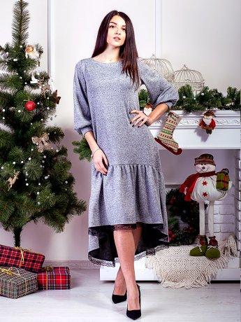 Розкішна сукня з рюшею по низу. Арт.2596