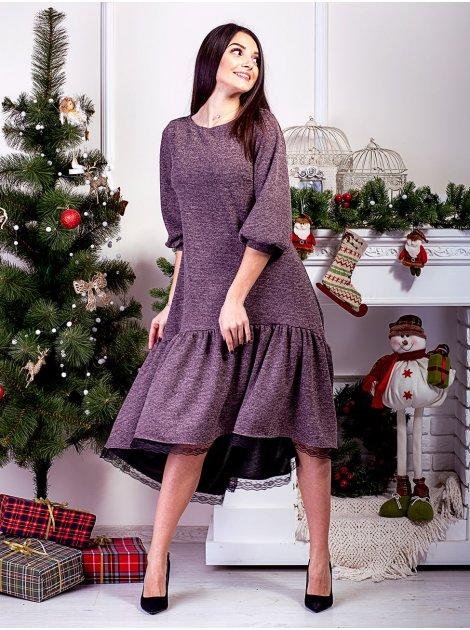 Роскошное платье с рюшей по низу. Арт.2596