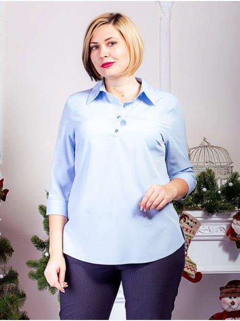 Удлинённая блуза батал с рукавом 3/4. Арт.2282