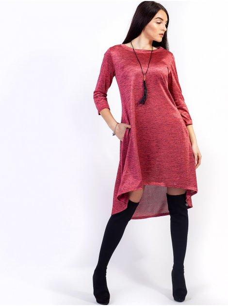 Стильное платье с фигурным низом и кулоном в комплекте. Арт.2630