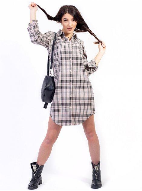 Платье-рубашка в шотландскую клетку. Арт.2211