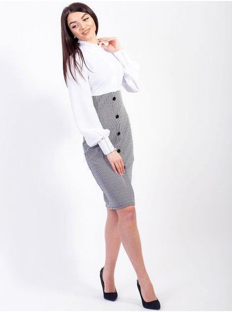 Эффектное комбинированное платье с красивым рукавом и клетчатым низом. Арт.2557