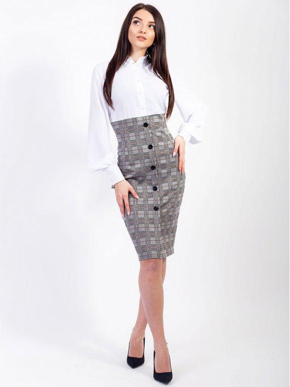 комбинированное платье с рукавом фото