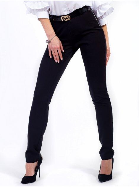 Женственные брюки с карманами-обманками и молнией сбоку. Арт.2619