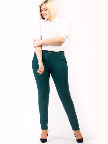 Стильные брюки size+ с карманами. Арт.2629
