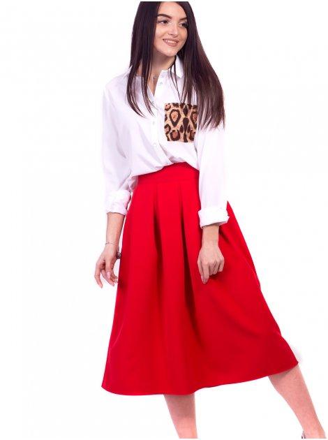 Роскошная миди-юбка А-силуэта со складками и удобными карманами. Арт.2645