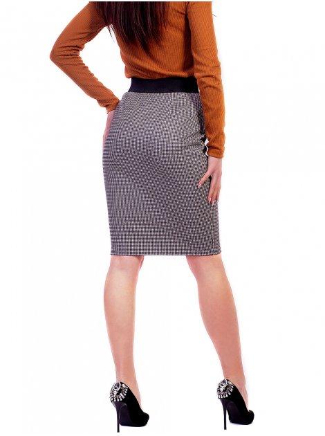 Замшевая юбка с молниями 2631