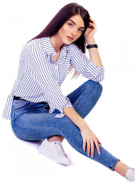 Блуза с асимметричной полоской 2650