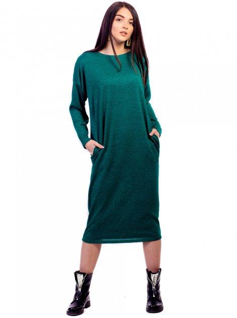 Удобное оверсайз платье длины миди с карманами. Арт.2667