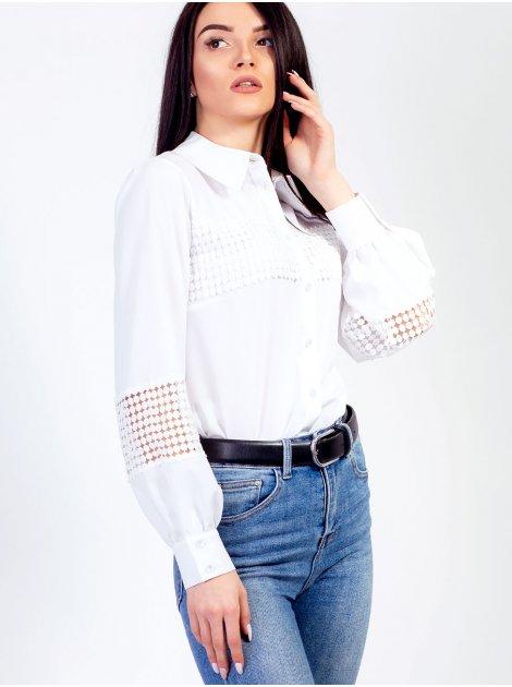 Легкая блуза со вставками изящного кружева. Арт.2478