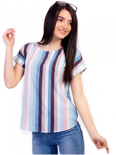 Легкая блуза в вертикальную полоску 2699