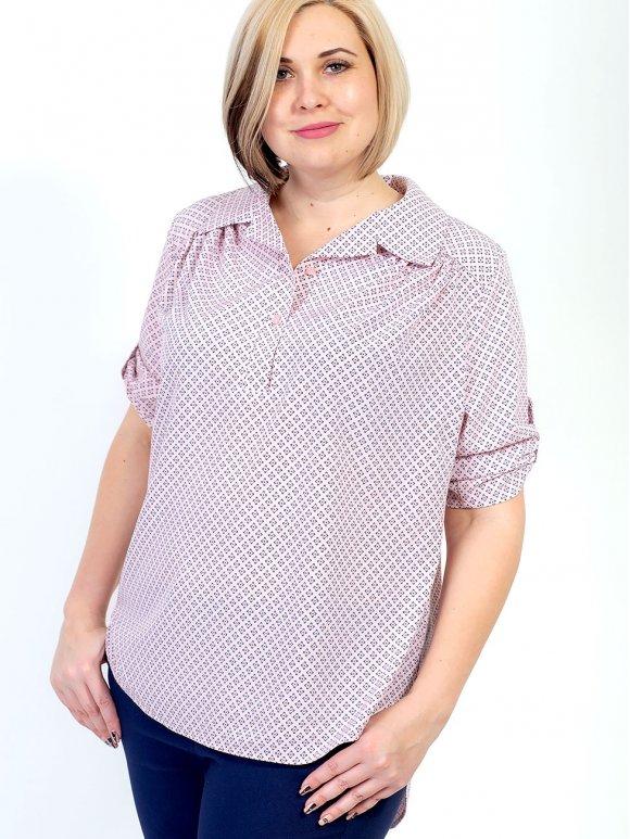 Стильная блуза size+ с удлинённой спинкой 2682