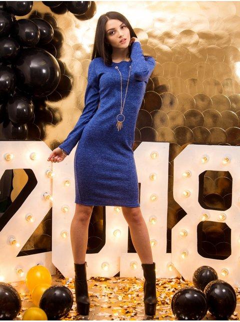 Платье с украшением, длинный рукав. Арт.2031.1