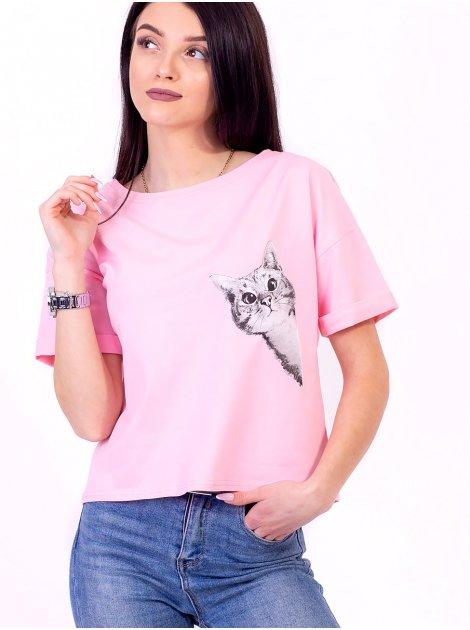 Крутая футболка с оригинальным принтом 2694