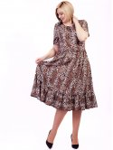 Платье size+ из легкой ткани с животным принтом 2700