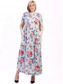 Длинное платье size+ в цветочный принт 2711