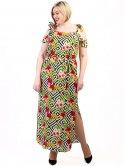 Платье size+ с трендовым тропическим принтом 2701