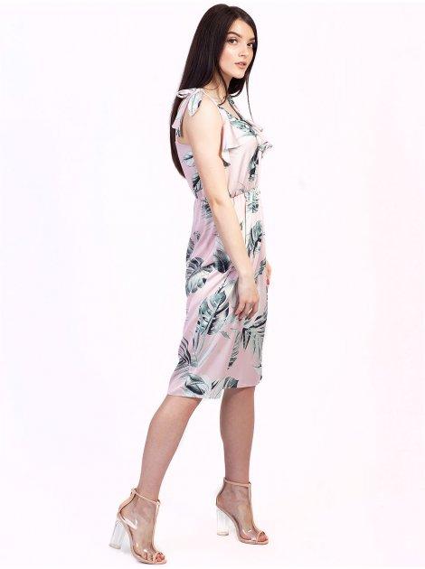 Очаровательное платье на брителях с рюшами 2743