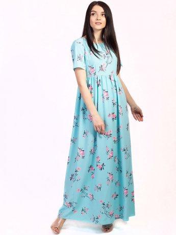 Актуальное длинное платье с цветочным принтом 2741