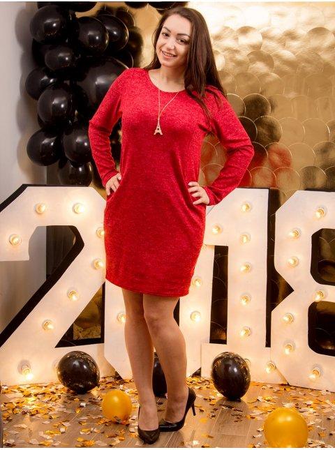 Платье батал с украшением. Арт.2135