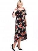 Платье size+ с воланом и имитацией запаха 2712