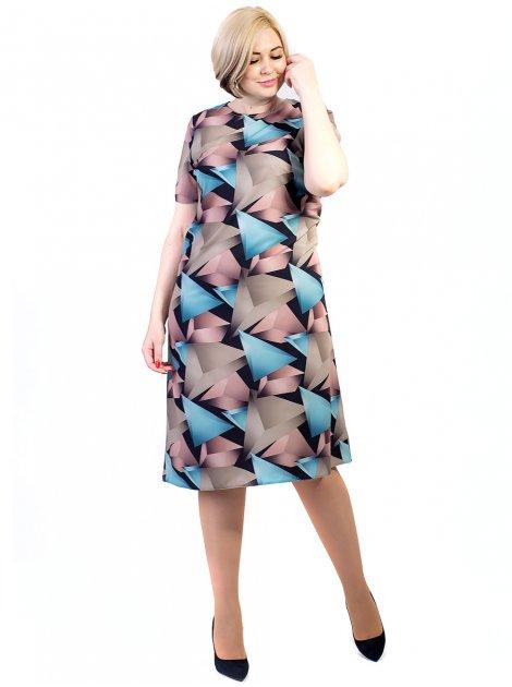 Очаровательное платье трапеция size+ 2725