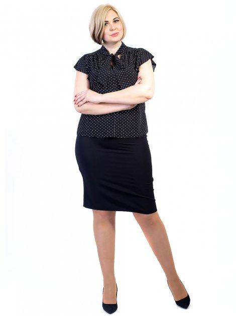 Блуза size+ с бантом и нарядными рукавами 2729