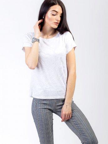 Стильная футболка из фактурной ткани 2748