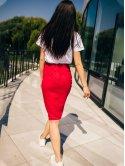 Стильная замшевая юбка с имитацией запаха 2644