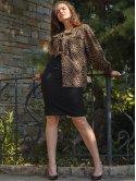 Стильная леопардовая блуза 2778