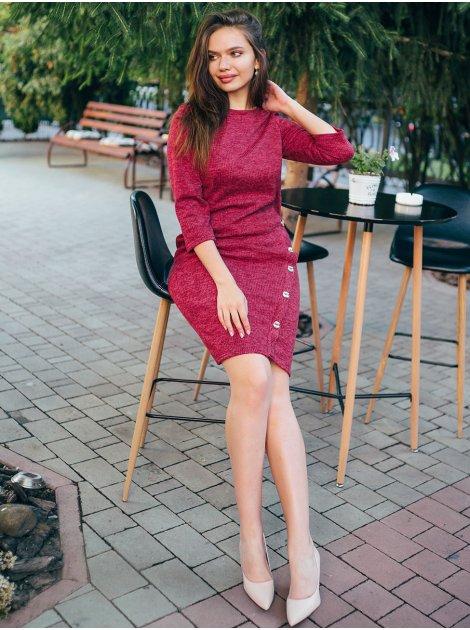 Платье с пуговицами на ноге 2788
