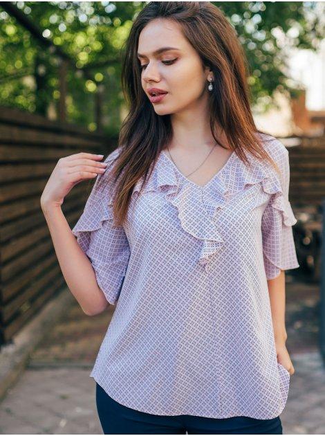 Оригинальная блуза size+ с рюшами 2673
