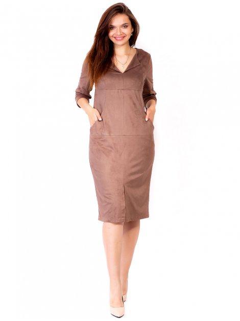 Замшевое платье с распоркой спереди 2770