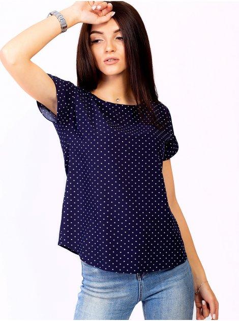 Блуза в горошек с цепочкой и подвеской. Арт.2305