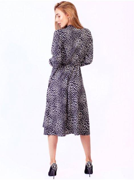 Воздушное платье в леопардовый принт 2782