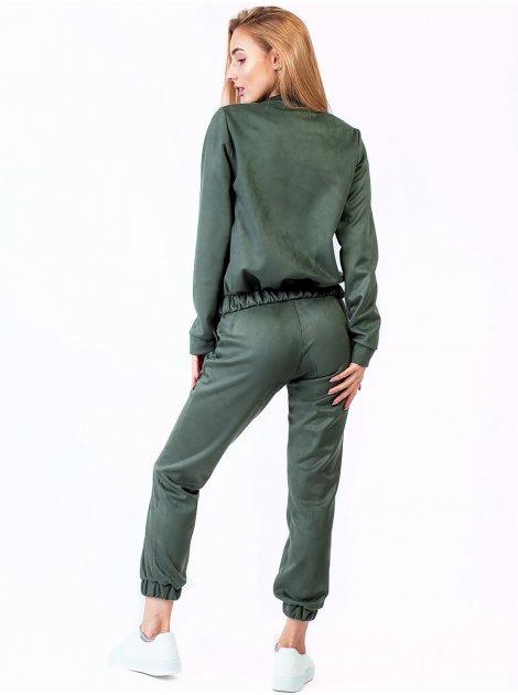 Замшевый костюм: кофта на замке и штаны 2760