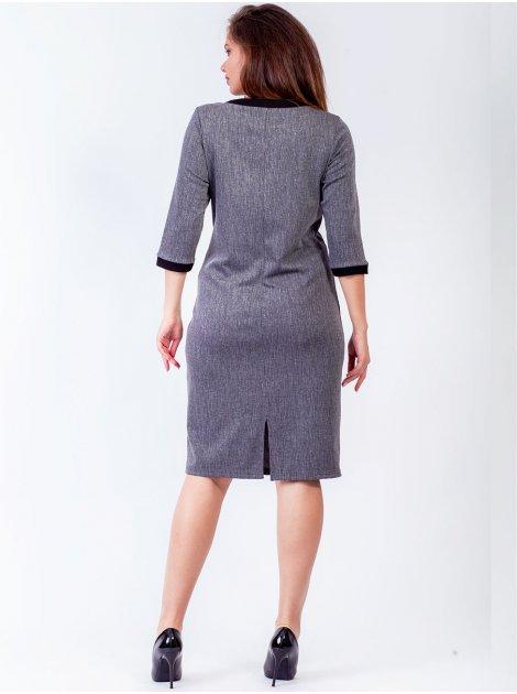 Женственное платье с люверсами 2767