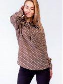 Блуза в горошек 2803