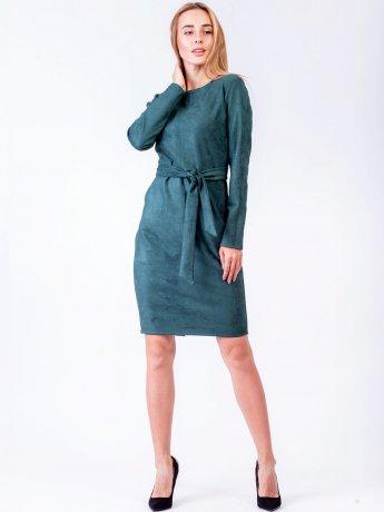 Вишукана облягаюча сукня із замші. Арт.2569