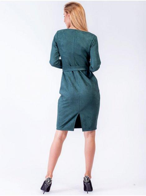 Шикарное облегающее платье из замши. Арт.2569