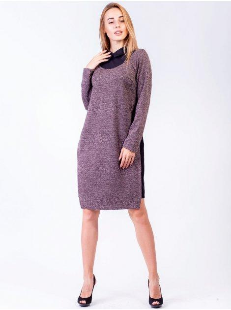 Оригинальное комбинированное платье с рубашечным воротником. Арт.2555