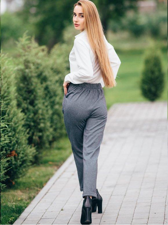 """Укороченные брюки """"гусиная лапка"""" 2814"""