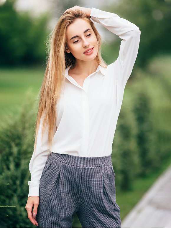 Стильная базовая блуза 2796