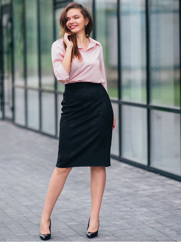 Замшевая юбка-карандаш 2797