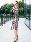 Лёгкое платье в змеиный принт 2790
