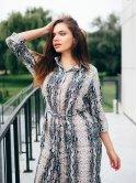 Платье со змеиным принтом 2811