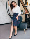 Клетчатая юбка с имитацией запаха 2755
