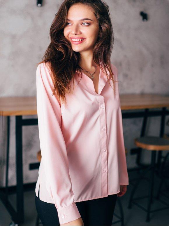 Базовая блуза прямого кроя 2804