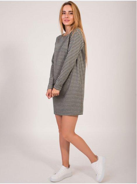 Стильное платье в полоску 2825